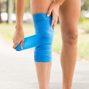 CoolXChagne Recovery Ice Wrap on leg